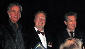 Derek Webber receiving Space Tourism Recognition Award